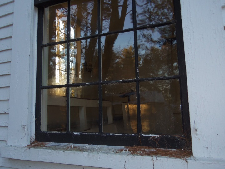 Quaker meetinghouses, like the one at West Epping in New Hampshire, traditionally have clear windows, rather than the customary stained glass found in many houses of worship.