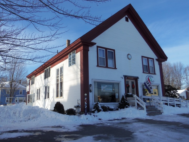 The 1850 meetinghouse in North Berwick, Maine, was the local meeting's third. No longer in use by Friends, the building was sold in 1950.