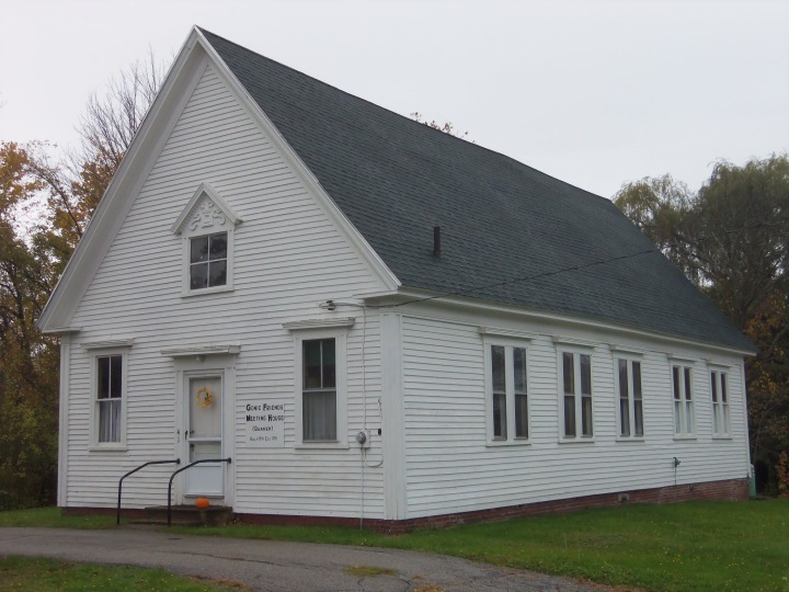 The 1890 meetinghouse in the Gonic neighborhood of Rochester, New Hampshire, houses a congregation that began in 1743.