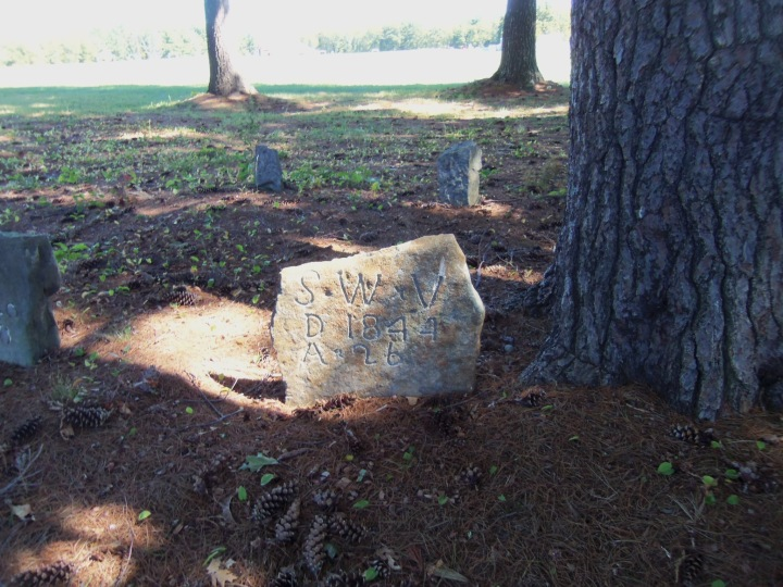 A simple stone in the Meader family burial ground in New Hampshire stands in timeless simplicity.