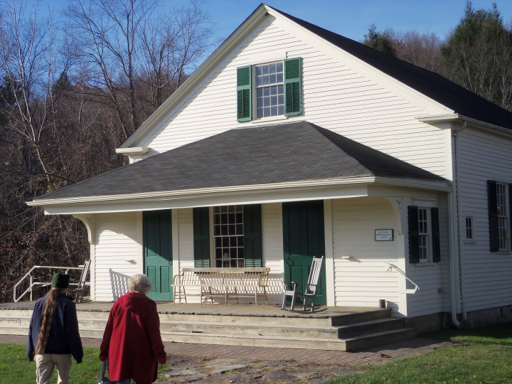 The 1849 meetinghouse that served the Wilburite Friends in North Dartmouth has been moved to Deerfield, where it was impeccably restored. It is part of the Woolman Hill Conference Center.