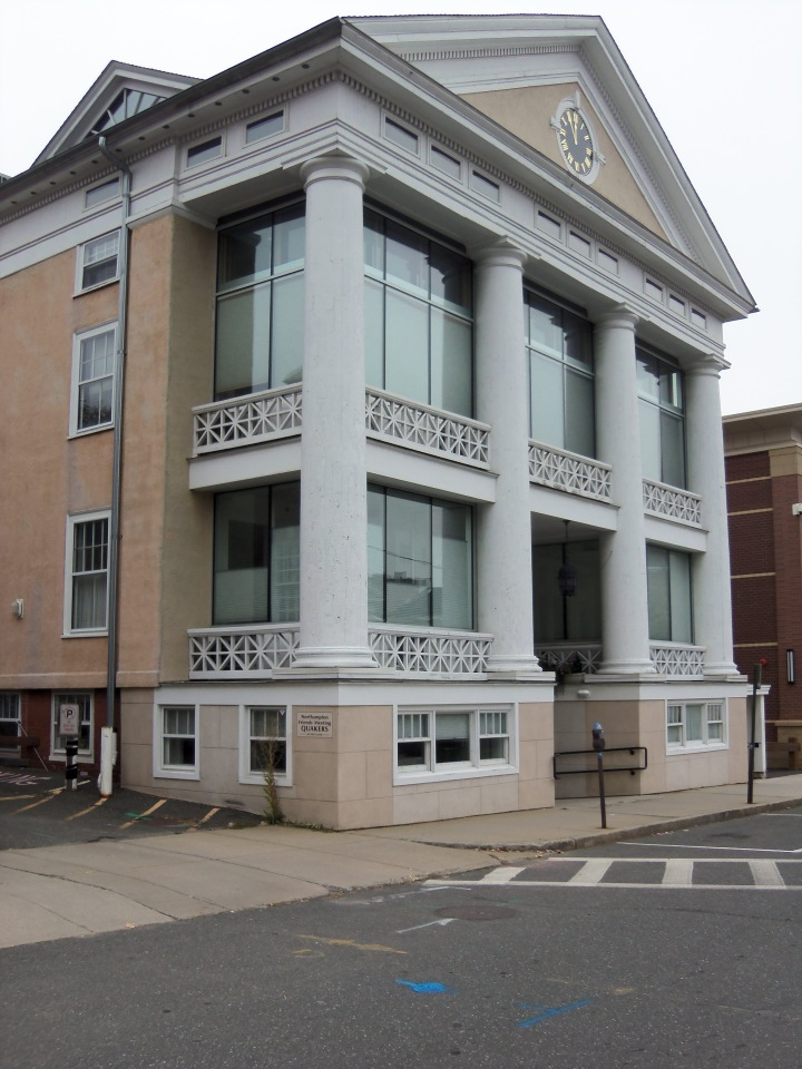 Northampton Friends bought the building and then expanded space on the second floor for their activities. The rest of the structure is rented to professional firms.