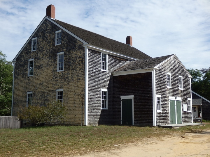 The Great Meetinghouse in Sandwich, Massachusetts. is an imposing structure.