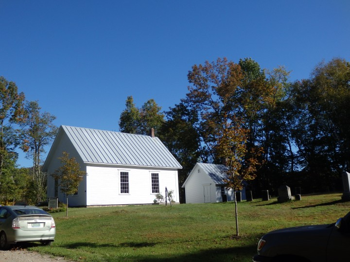 South Starksboro Friends meetinghouse sits in Vermont's Green Mountains.