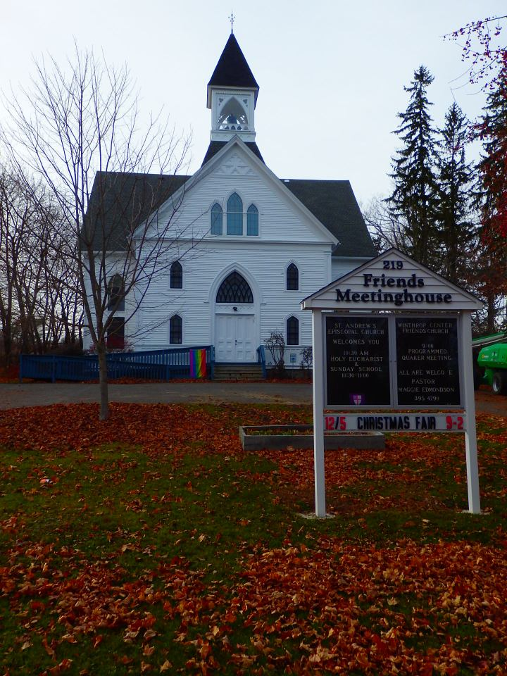 Winthrop Friends Church in central Maine has opened its doors to an Anglican congregation. The arrangement seems to suit both worshiping bodies.